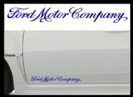 FORD MOTOR COMPANY CAR BODY DECALS